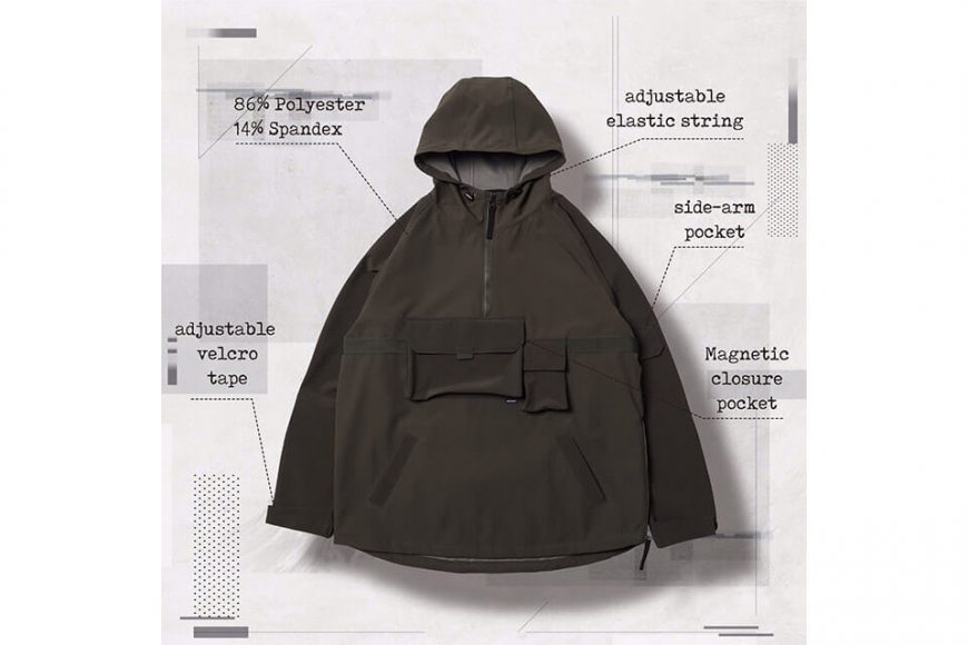 AES 27(四)初三發售 18 AW Aes x Goopi Magnetic Anorak Jacket (5)
