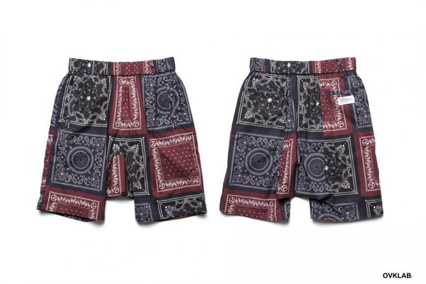 OVKLAB 19 SS Paisley Pattern Wide Shorts (2)