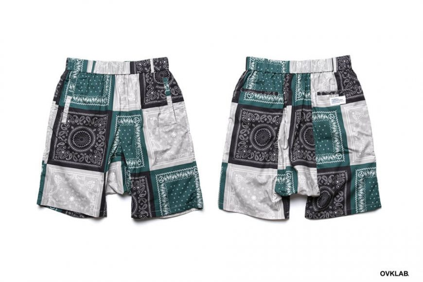 OVKLAB 19 SS Paisley Pattern Wide Shorts (3)
