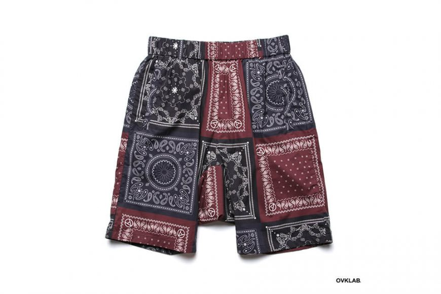 OVKLAB 19 SS Paisley Pattern Wide Shorts (4)