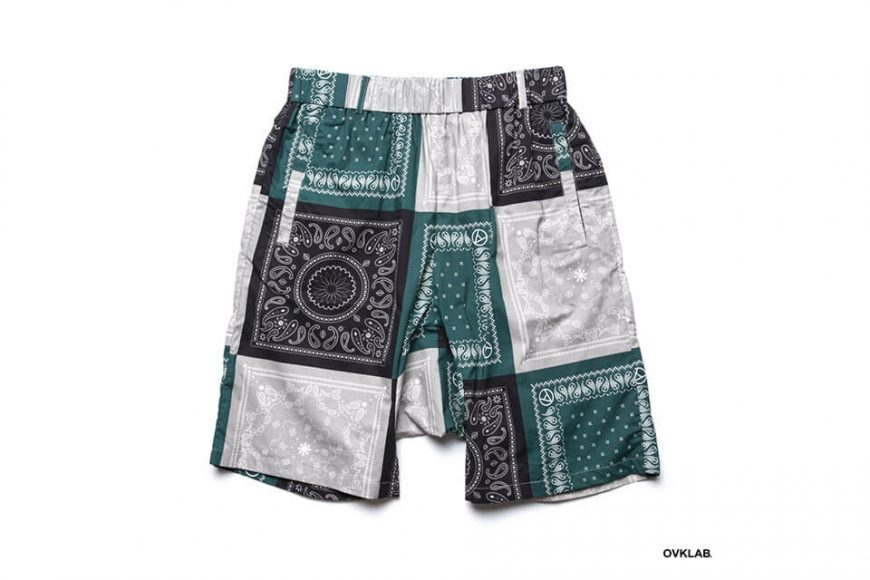 OVKLAB 19 SS Paisley Pattern Wide Shorts (6)