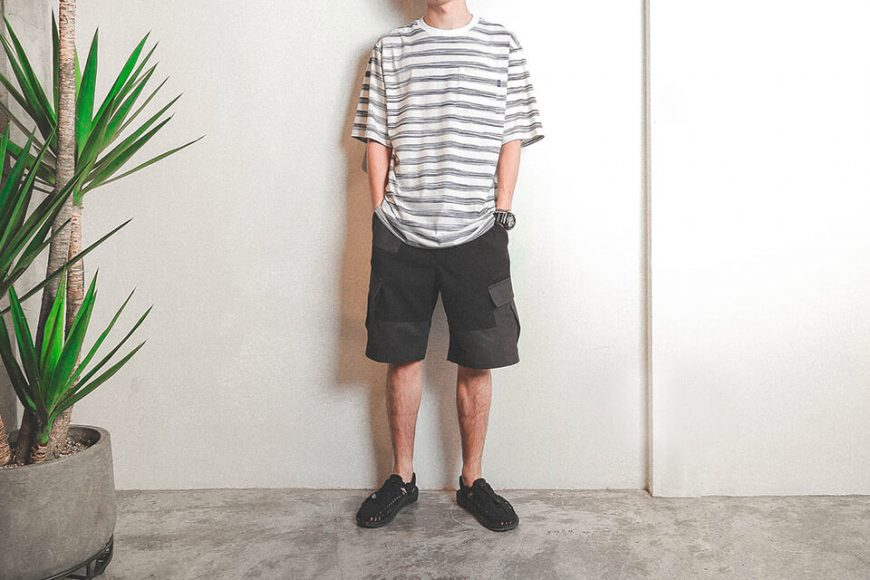 B-SIDE 19 SS Bruch Line Pocket Tee (1)