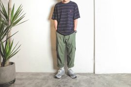 B-SIDE 19 SS Wide Cut Stripe Tee (1)