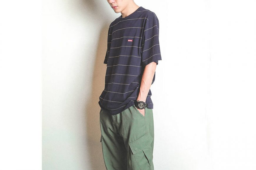 B-SIDE 19 SS Wide Cut Stripe Tee (2)