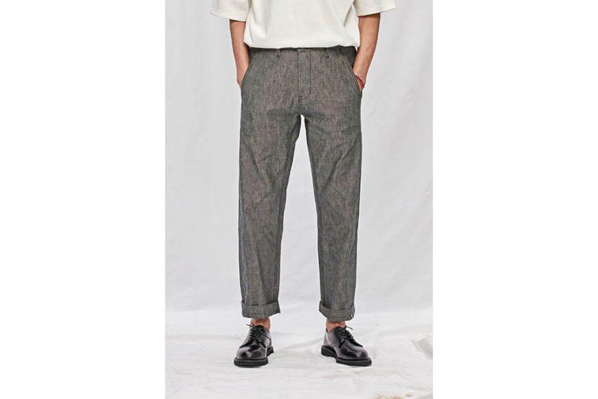 FrizmWORKS 19 SS Chambray Selvedge Banding Pants (3)