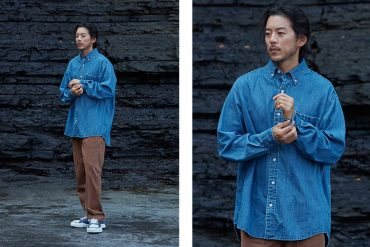 FrizmWORKS 19 FW Oversized Denim Shirt (1)