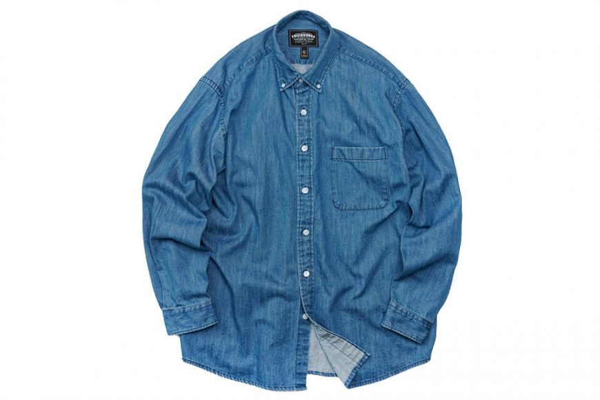 FrizmWORKS 19 FW Oversized Denim Shirt (7)