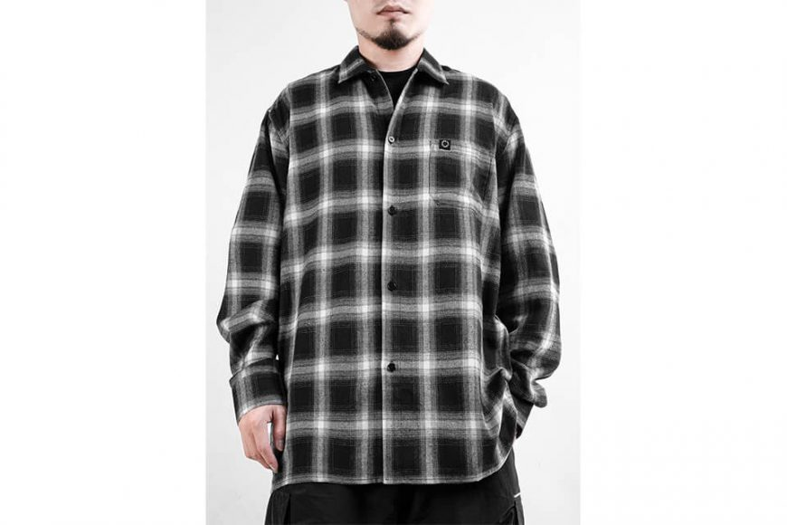 NEXHYPE 19 FW Crazy Check Flannel Shirt (1)