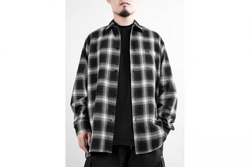 NEXHYPE 19 FW Crazy Check Flannel Shirt (2)