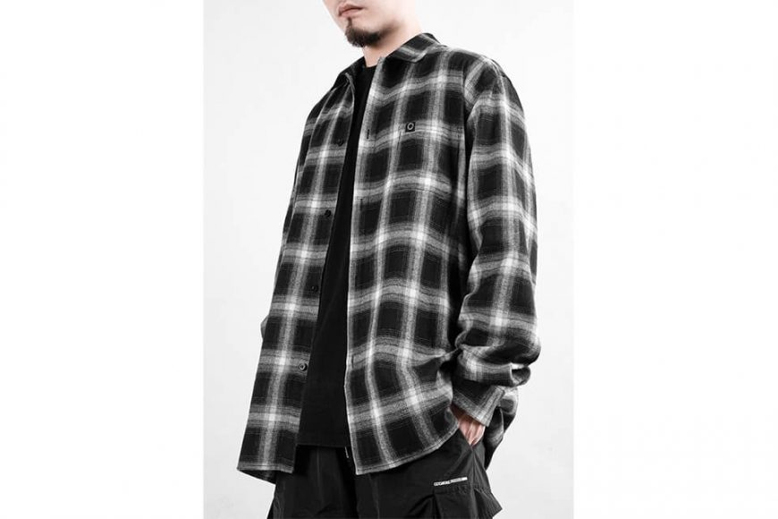 NEXHYPE 19 FW Crazy Check Flannel Shirt (3)