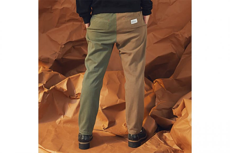 OVKLAB 19 AW Two Tone Tapered Pants (2)