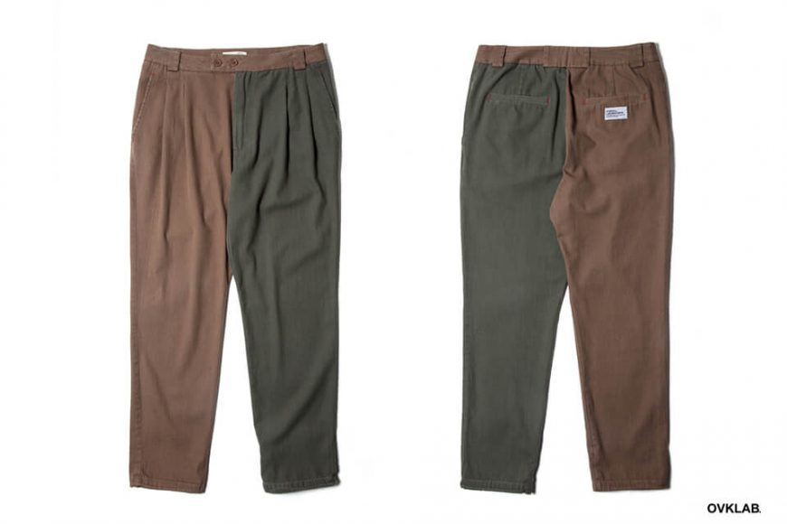 OVKLAB 19 AW Two Tone Tapered Pants (3)
