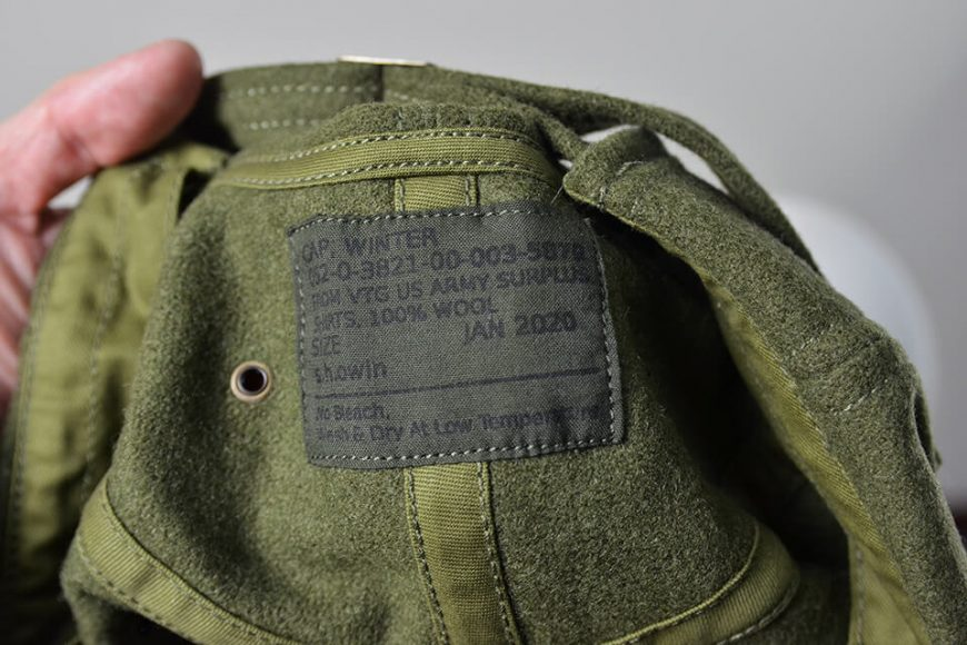 S.h.owin 19 AW Winter Cap from US Army Wool Shirts (16)