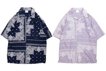 NEXHYPE 20 SS SLF Paisley Pattern Purple Shirt (5)