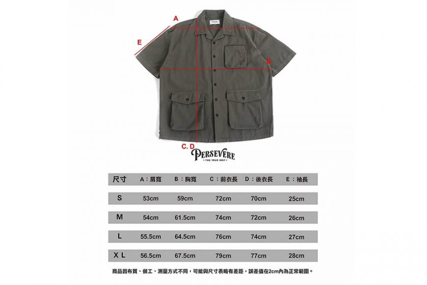 PERSEVERE 20 SS Garment Washed Shirt (21)