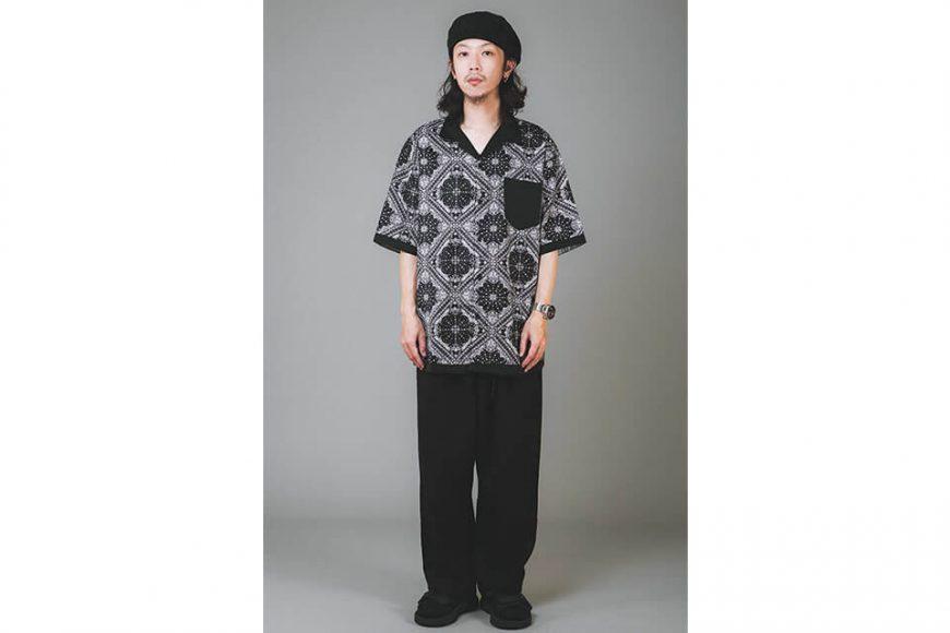 NextMobRiot 20 SS Splicing Bandana OVS Shirt (1)