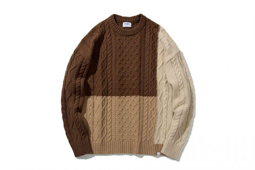 COVERNAT 20 FW Aran Knit Crewneck (1)