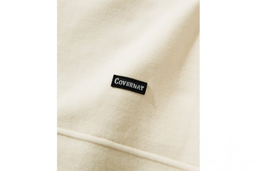 COVERNAT 20 FW Fabric Mixed Crewneck (4)