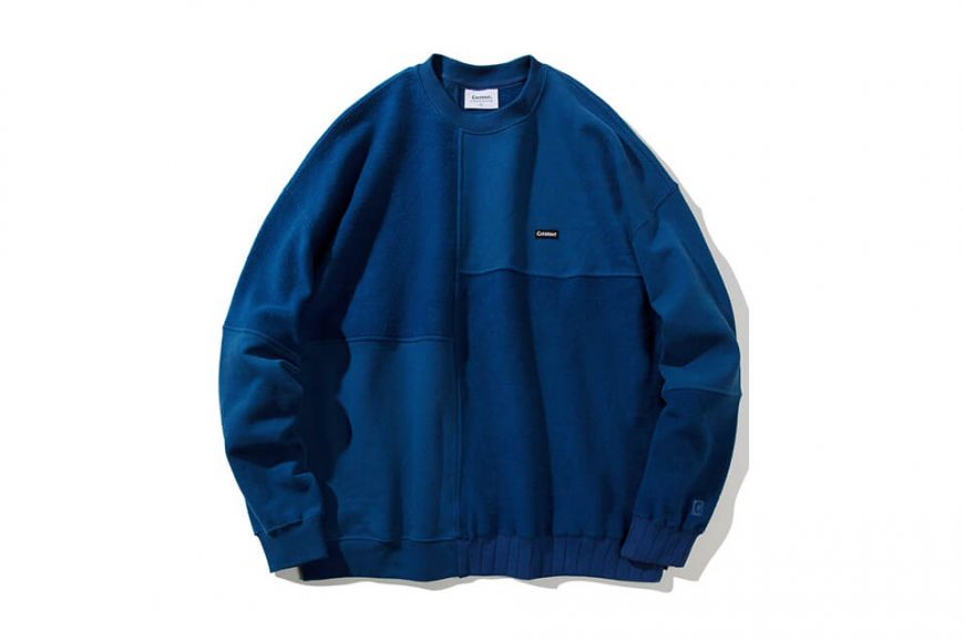 COVERNAT 20 FW Fabric Mixed Crewneck (7)