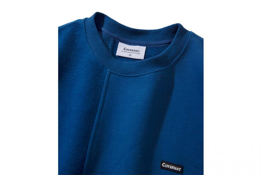 COVERNAT 20 FW Fabric Mixed Crewneck (9)