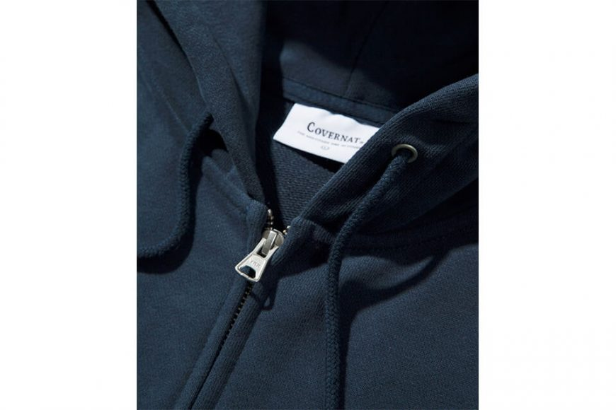 COVERNAT 20 FW Side Authentic Logo Hoodie Zip-Up (3)