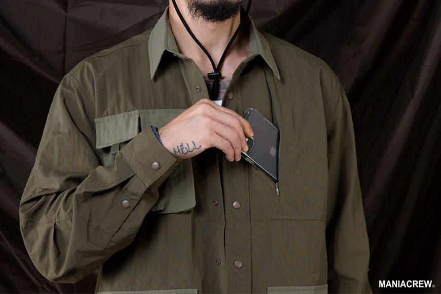 MANIA 20 AW 2 Tone Pocket Shirt (10)