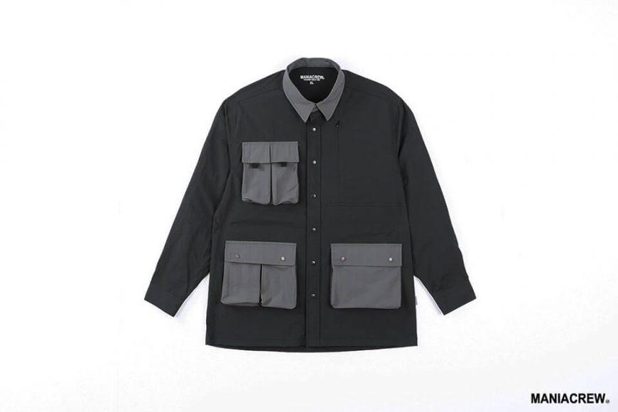 MANIA 20 AW 2 Tone Pocket Shirt (11)