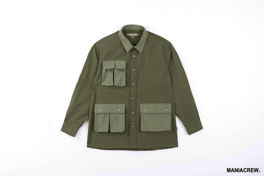 MANIA 20 AW 2 Tone Pocket Shirt (13)