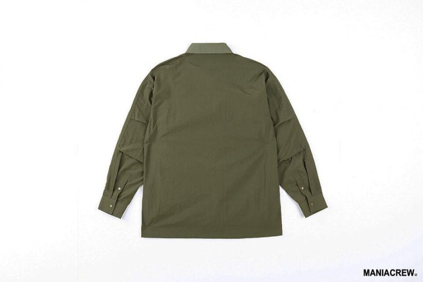 MANIA 20 AW 2 Tone Pocket Shirt (14)