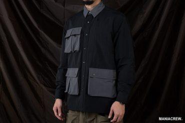 MANIA 20 AW 2 Tone Pocket Shirt (3)
