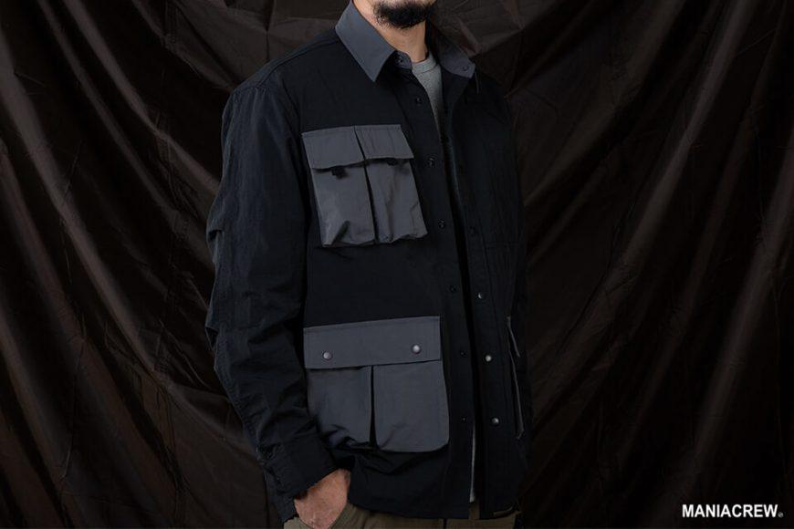 MANIA 20 AW 2 Tone Pocket Shirt (4)