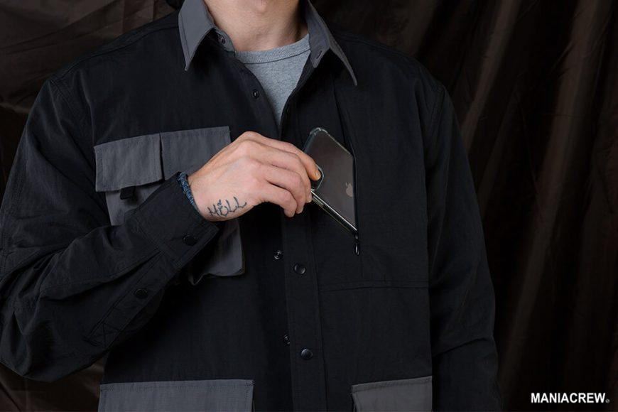 MANIA 20 AW 2 Tone Pocket Shirt (5)