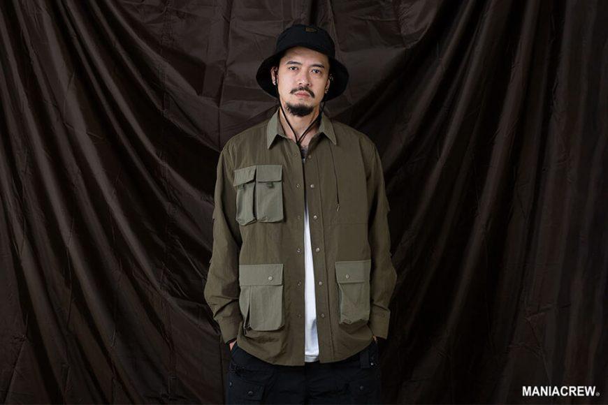 MANIA 20 AW 2 Tone Pocket Shirt (7)