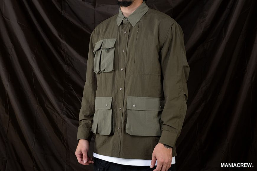 MANIA 20 AW 2 Tone Pocket Shirt (8)