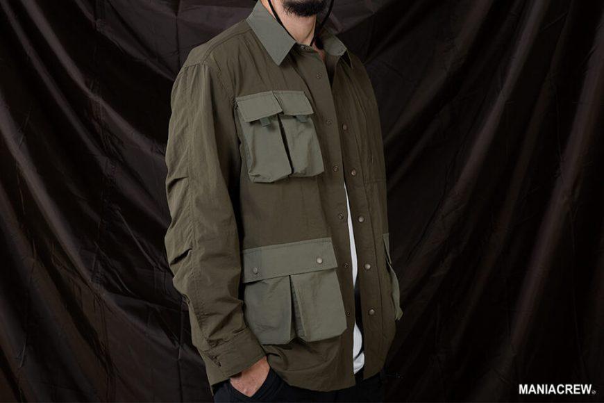 MANIA 20 AW 2 Tone Pocket Shirt (9)