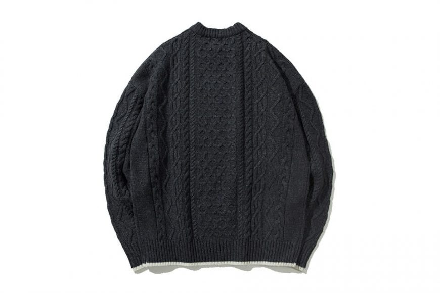 COVERNAT 20 FW Aran Knit Crewneck (2)