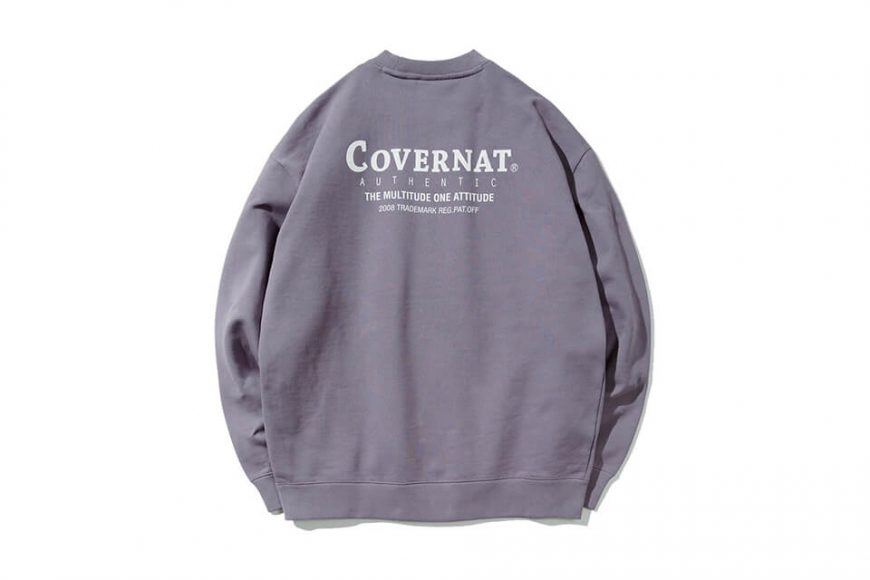 COVERNAT 20 FW Layout Logo Crewneck (2)