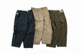 PERSEVERE 20 AW Enzyme Stone Washed Pleated Trousers (13)