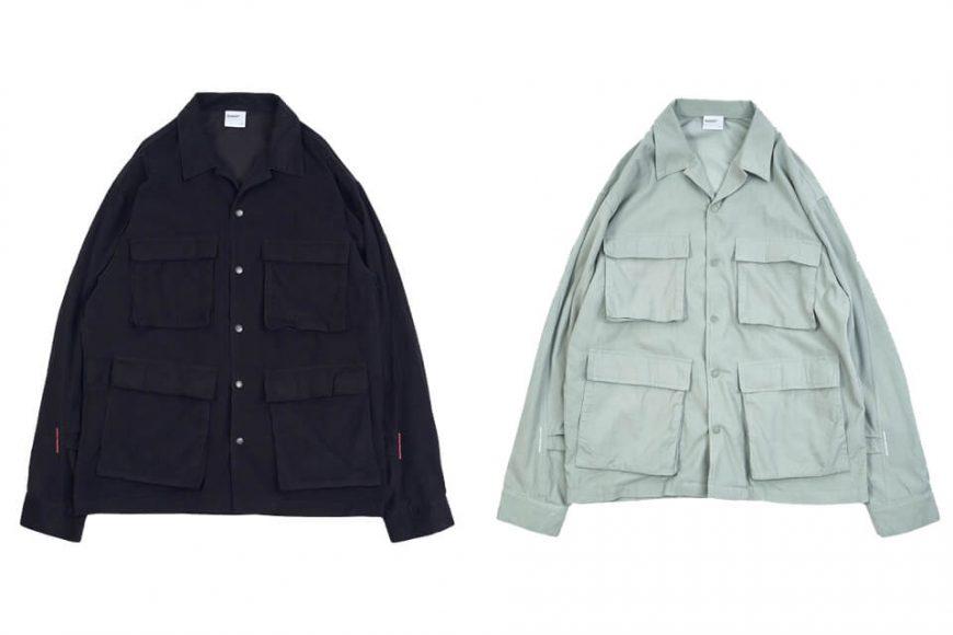 NEXHYPE 20 FW Green Corduroy LS Shirt (0)