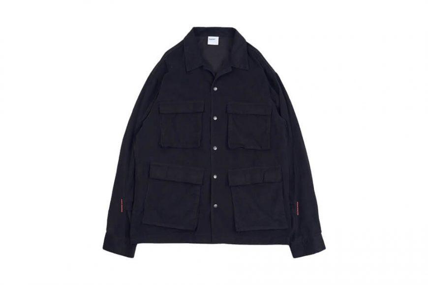 NEXHYPE 20 FW Green Corduroy LS Shirt (1)