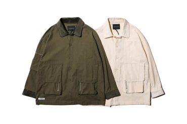 AES 20 AW Corduroy Splicing Twill Shirt (1)