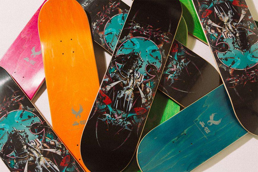 REMIX X 霹靂布袋戲 20 AW Pili 虎魁天虓皇 Skateboard (2)