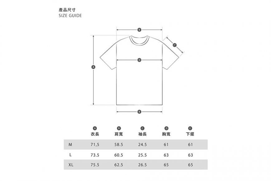 B-SIDE 21 SS Tee 21-5 Wide Heavy Washed (19)