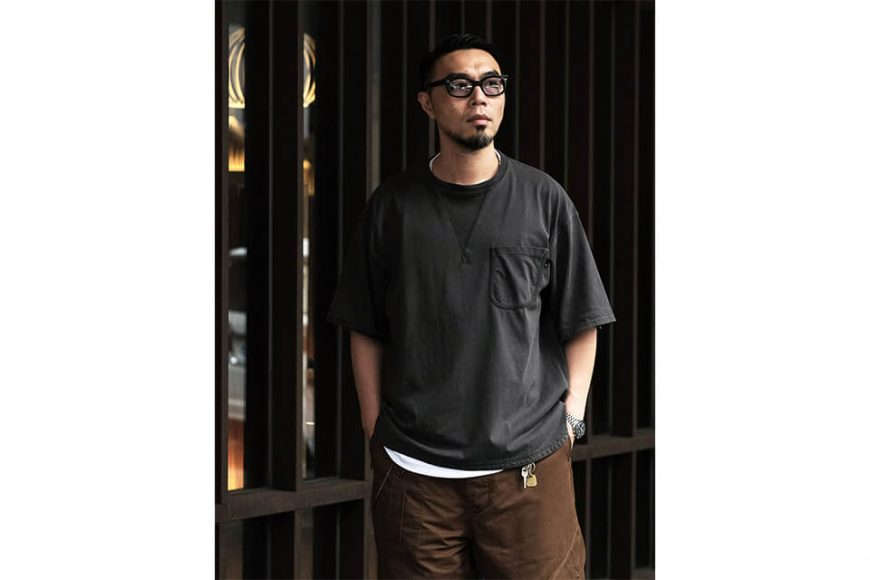 B-SIDE 21 SS Tee 21-5 Wide Heavy Washed (2)