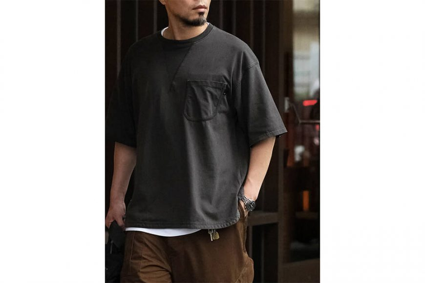 B-SIDE 21 SS Tee 21-5 Wide Heavy Washed (3)