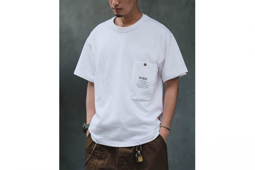 B-SIDE 21 SS Tee 21-2 Long Pocket (6)