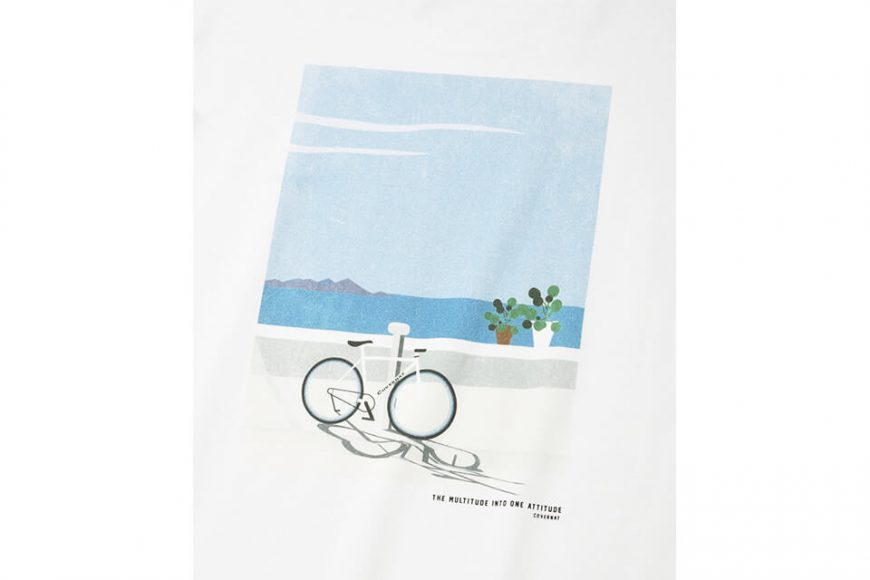 COVERNAT 21 SS Bicycle Ocean View SS Tee (4)