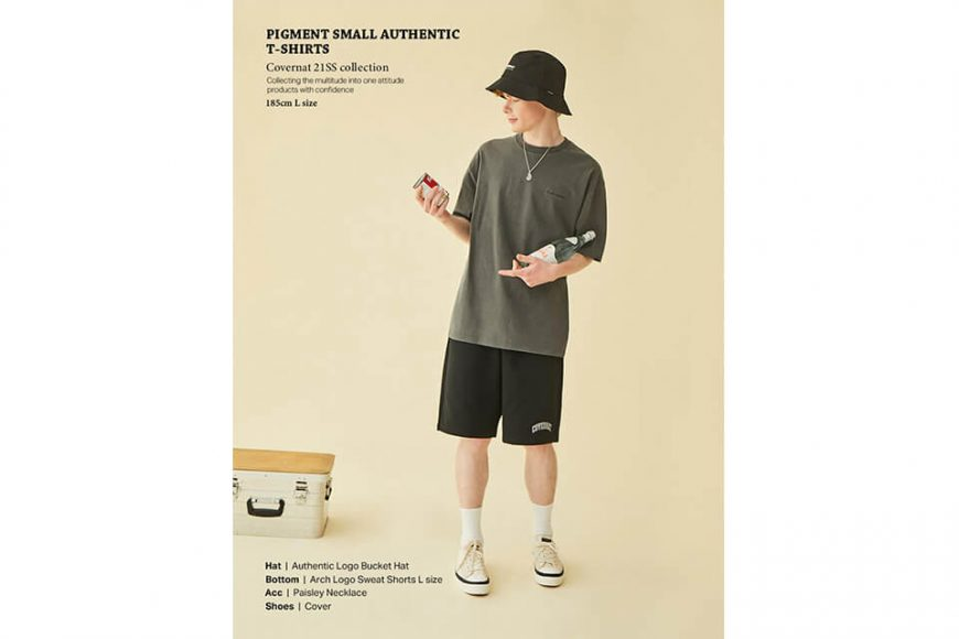 COVERNAT 21 SS Pigment Authentic Logo SS Tee (1)