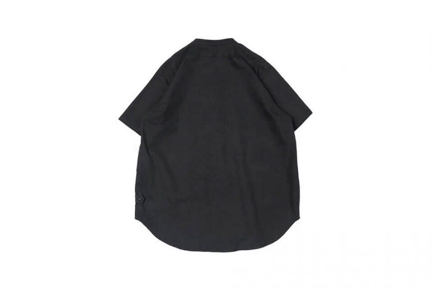 CentralPark.4PM 21 SS Band Collar Ripstop Shirt (4)
