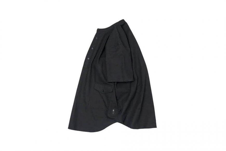 CentralPark.4PM 21 SS Band Collar Ripstop Shirt (5)